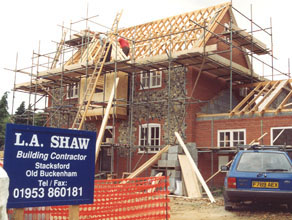 L A Shaw Builders New Build House